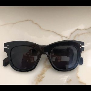 Celine black square frame sunglasses